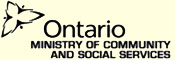 Ministry of Community and Social Services Logo